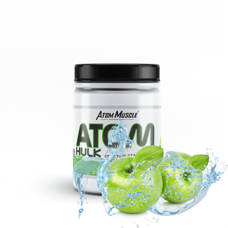 Atom HULK creatine stack - smak Zielone Jabłuszko