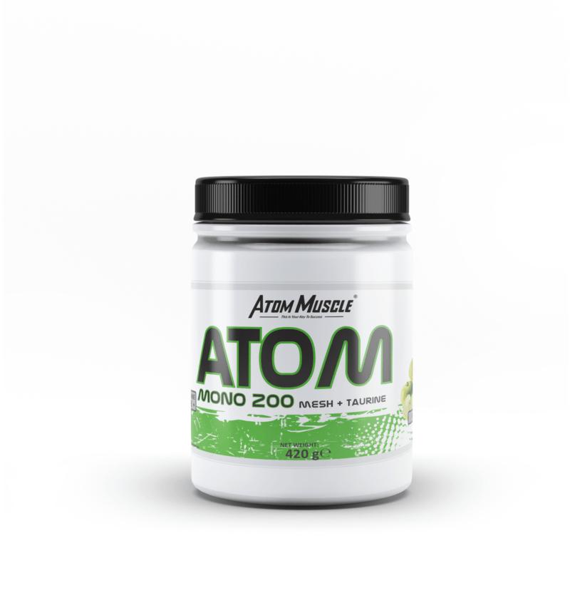 ATOM Mono 200 mesh +Taurine - Smak Zielone Jabłuszko