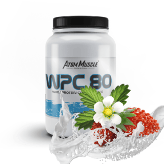 Atom Muscle WPC 80 - smak Poziomkowy