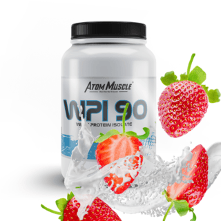 Atom Muscle WPI 90 - smak Truskawkowy