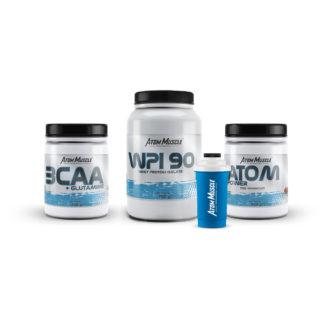 Zestaw ATOM Power + BCAA glutamina + WPI 90